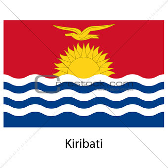 Flag  of the country  kiribati. Vector illustration.