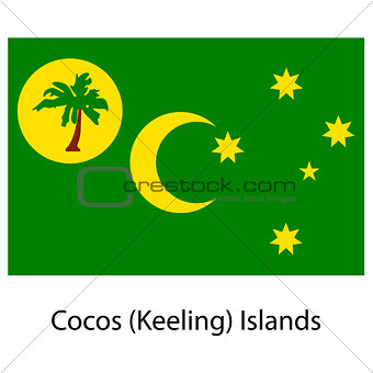 Flag  of the country cocos islands. Vector illustration.