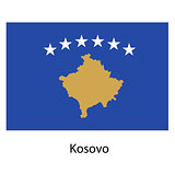 Flag  of the country  kosovo. Vector illustration.