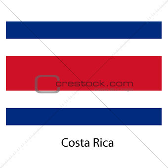 Flag  of the country  costa rica. Vector illustration.