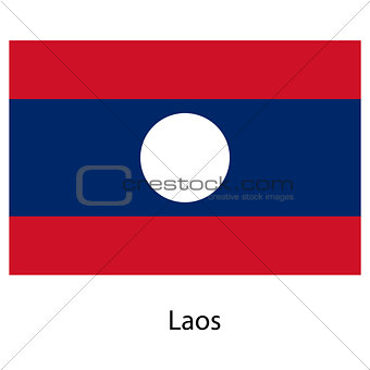 Flag  of the country  laos. Vector illustration.