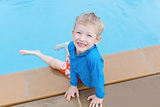 kid at the pool