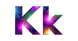Set of letters, firework, K
