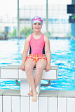 child portrait on swimming pool