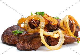 grilled fresh meat and vegetables
