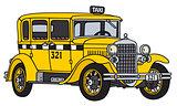 Vintage taxi car