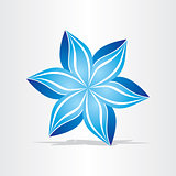 blue flower abstract design