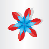 flower decoration icon red blue