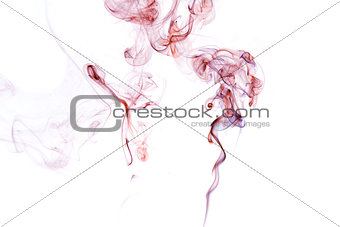 Beautiful Smoke isolated on white.