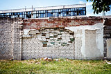 Old brick fence