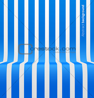 Abstract blue striped perspective background