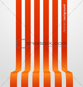Abstract red striped perspective background
