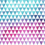 Vector Seamless Geometric Pattern on watercolor winter backgroun