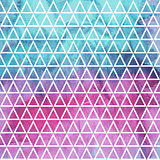 Vector Seamless Geometric Pattern on watercolor winter backgroun