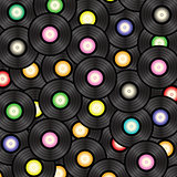 Black vinyl record  background