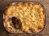 rustic traditional british shepard pie