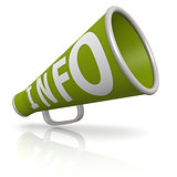 Green info megaphone