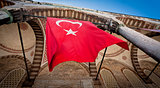 Turkish Flag at Blue Mosque in Istanbul
