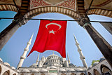 Turkish Flag at the Blue Mosque