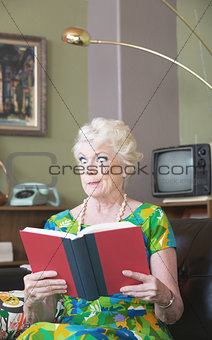 Skeptical Woman with Book