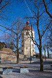 View of Glockenturm tower bell on Schlossberg hill, Graz