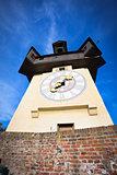 Uhrturm old clock tower in Graz