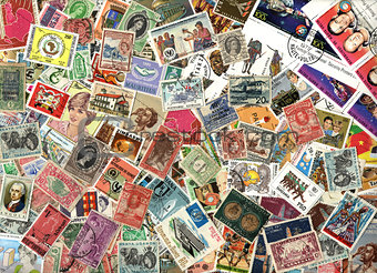 Background of African postage stamps