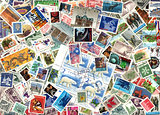Background of Canadian postage stamps