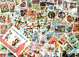 Sport - background of Cuban postage stamps