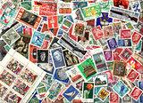 Background of German postage stamps (GDR)