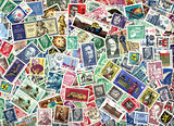 Background of German postage stamps (GDR)