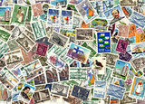 Background of Finnish postage stamps