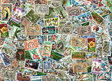 Background of Nigerian postage stamps