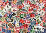 Background of Norwegian postage stamps