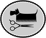 dog haircut sign