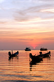 The sunset over sea, Thailand