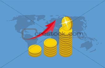 Money Flat Design Concept Vector  Illustration