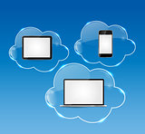 Cloud Computing Business Concept Vector Illustration
