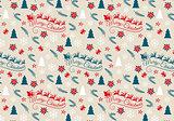 Seamless Christmas pattern, vector
