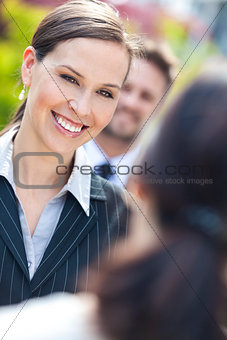 Business Woman or Businesswoman Colleagues in Team