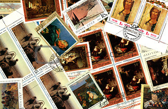 Art. Background of Soviet postage stamps