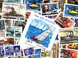 Technics. Soviet postage stamps