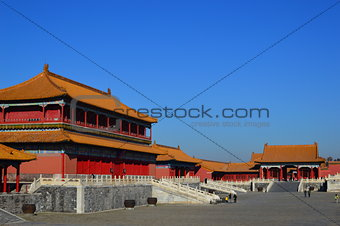 Houses of the Forbidden City under the Blue Sky