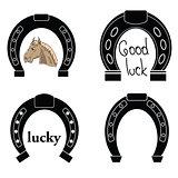 horseshoe silhouettes