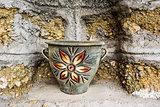 Old Painted Ceramic Vase