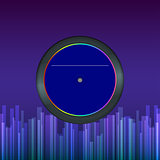 Vector record disk, abstract background