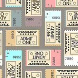 Tickets seamless pattern, abstract texture,