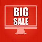 Silhouette monitor with text big sale