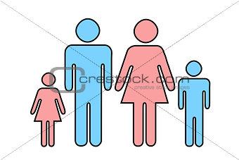 Sketch family of four