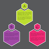 Simple infograhic with color hexagons